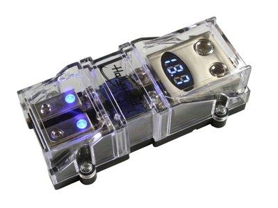 Dubbele mini ANL zekeringhouder met volt meter