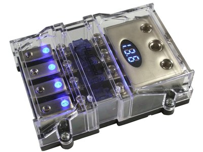 4x Mini Anl zekeringhouder met voltmeter